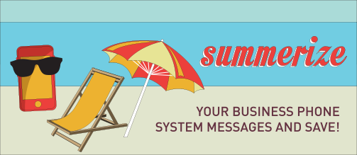 Promotional illustration for preparing your phone system for the summer months