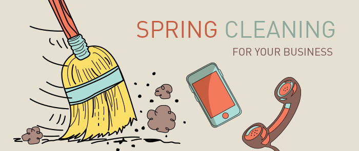 Illustration of 'Spring Cleaning' to help organize your business