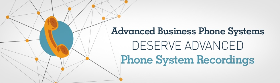 Illustration of advanced business phone system integrated with advanced phone system recordings
